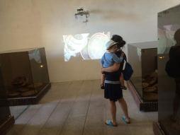 Tra le sale del Museo dell'Intreccio Mediterraneo.