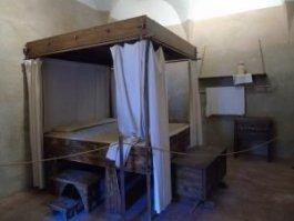La camera medievale della Rocca di Soncino.