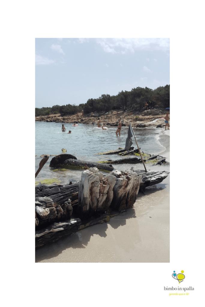 Spiaggia del Relitto in Sardegna