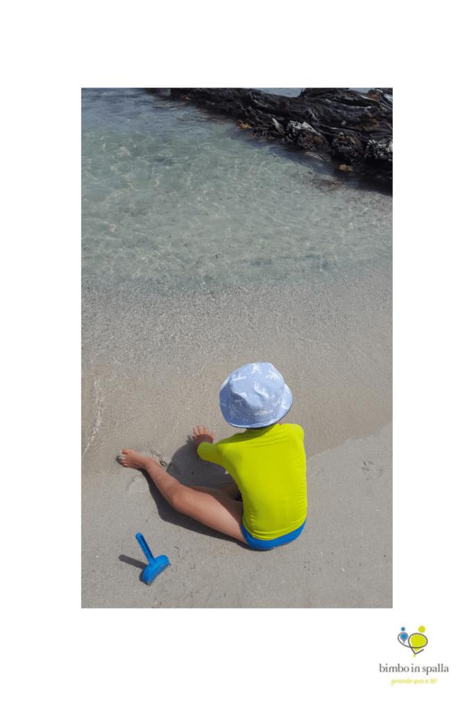 Spiaggia del Relitto Caprera per bambini