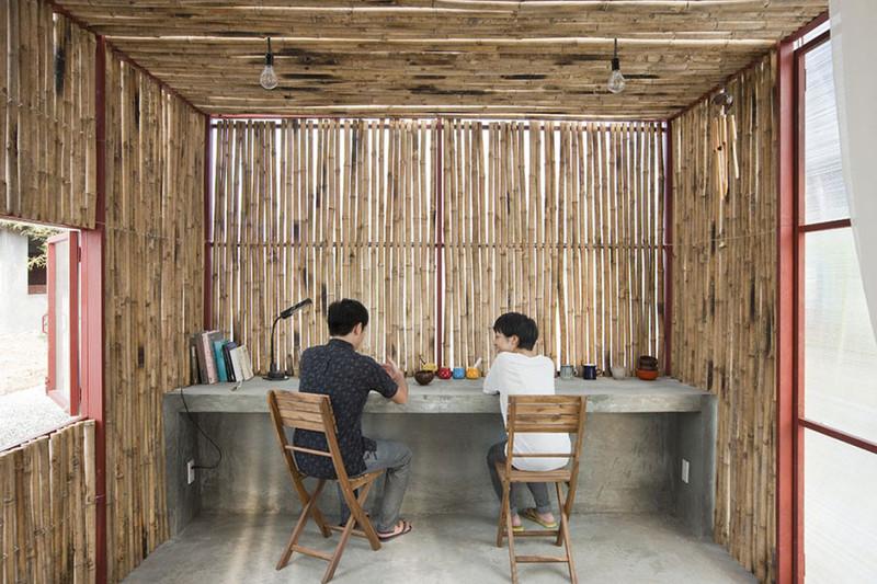 Projetos de arquitetura com bambu.
