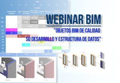 Webinar Objetos BIM de Calidad, su desarrollo y estructura de datos - foto portadfa