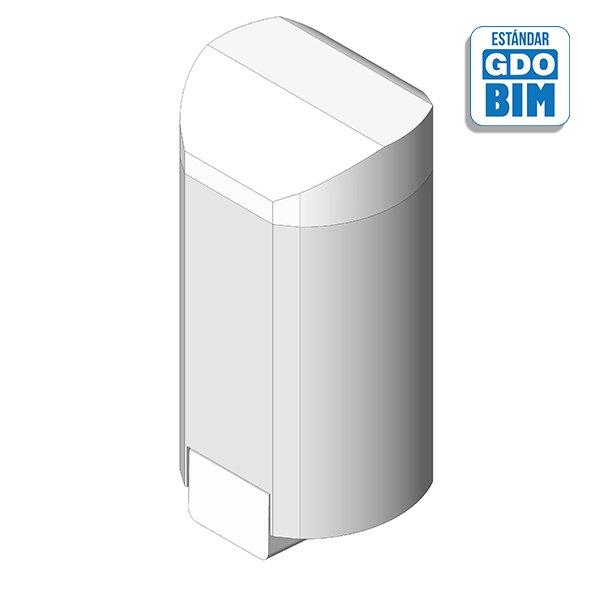 Dispensador de pared para jabón con cerradura
