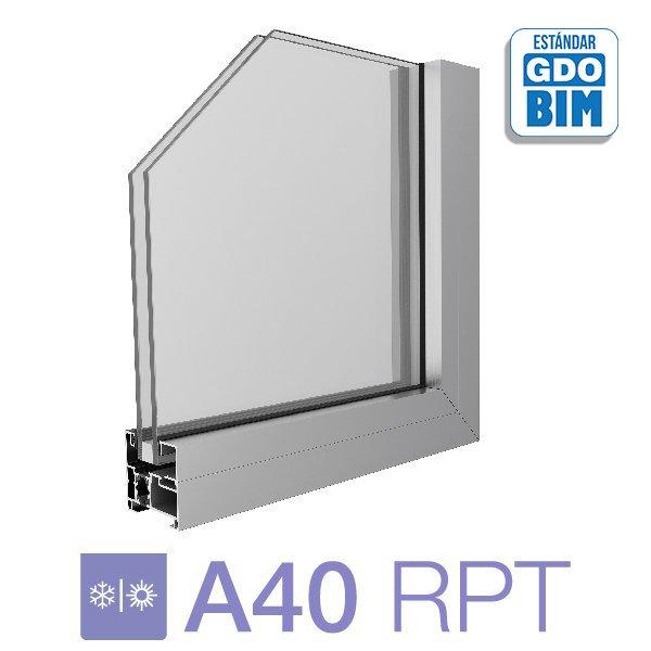 Sistema A40 RPT Paño Fijo - aluar