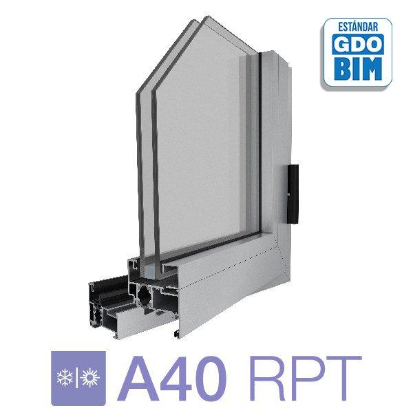 Sistema A40 RPT Ventana de abrir de 1 hoja - aluar