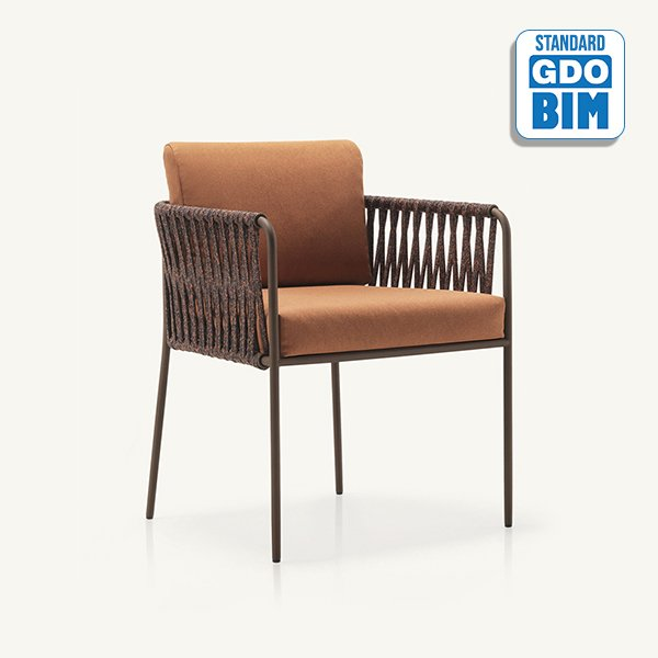 Nido - hand-woven dining armchair