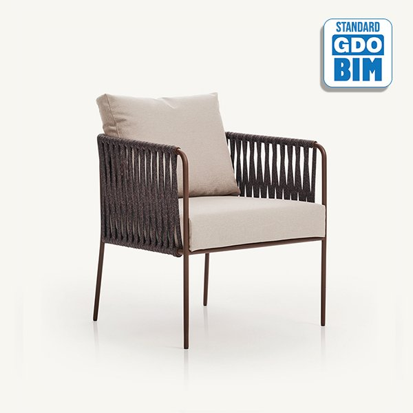 Nido - hand woven low armchair