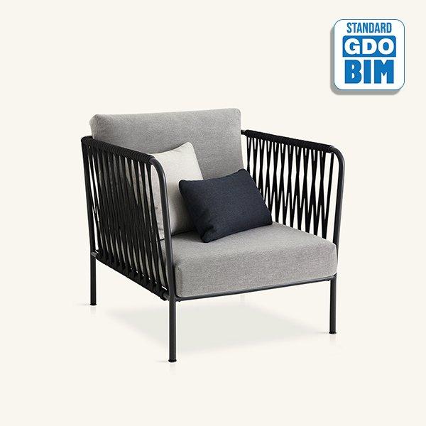 Nido - hand-woven armchair