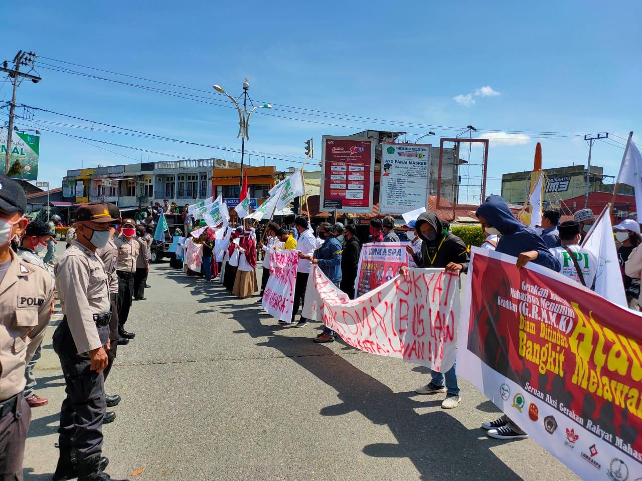 Gelar Aksi, KAMMI Daerah Aceh Barat Tegas Tolak RUU HIP