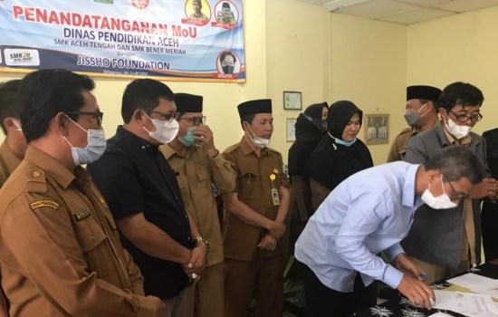 Tandatangani MoU dengan Jissho Jepang, Alhudri : Pendidikan Kejuruan Di Aceh Penuh Tantangan