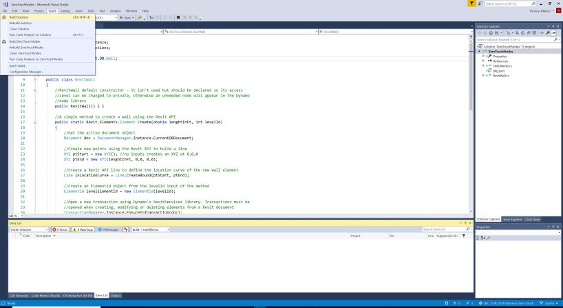 Visual Studio Build Solution