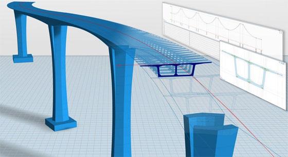 4D parametric modelling of bridges with Allplan Bridge