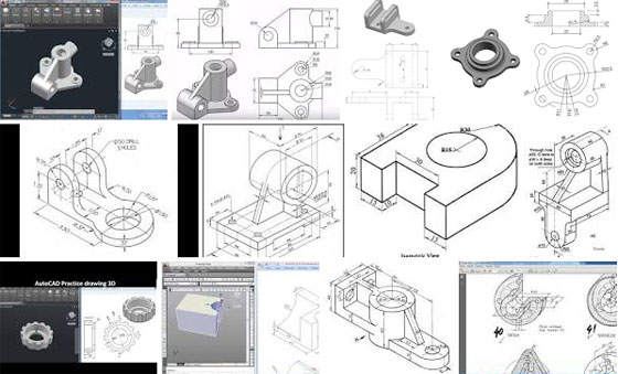 Improve your AutoCAD skills with a series of 30+ AutoCAD 2D and 3D drawings