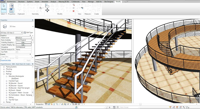 How to create Curve Staircase – Curve Railings and Modern Stairs Using Autodesk Revit