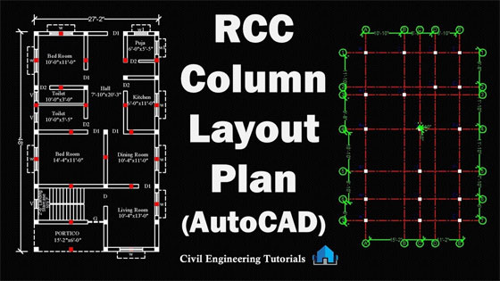 Quick tricks to draw a column layout plan in AutoCAD