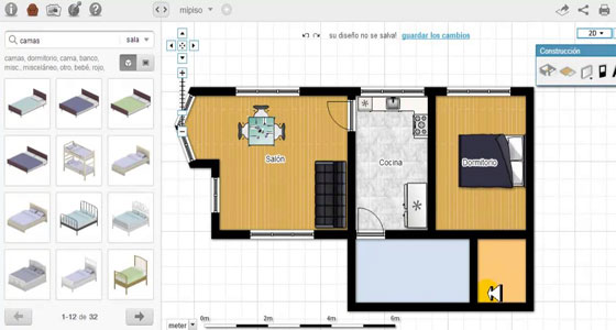 Floorplanner is a handy program to draw floor plans online in 2D or 3D