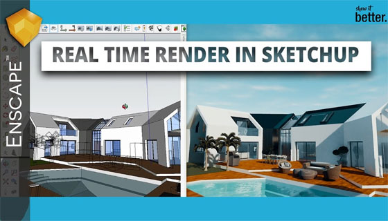 Real-time 3D rendering plugin for Revit and SketchUp delivers by Enscape
