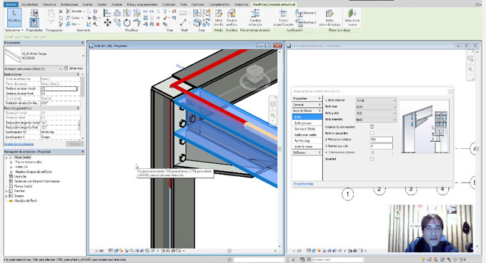 Brief demonstration of Structural Connections in Revit 2018
