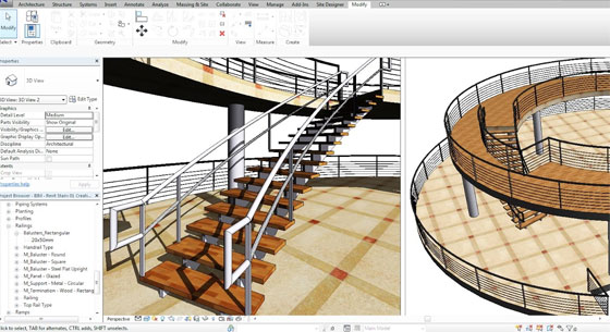 How to create a flowing & elegant staircase in Revit
