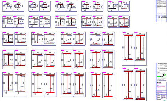 Download European Wide Flange HEA HEB Profile Steel Sections dwg CAD drawings