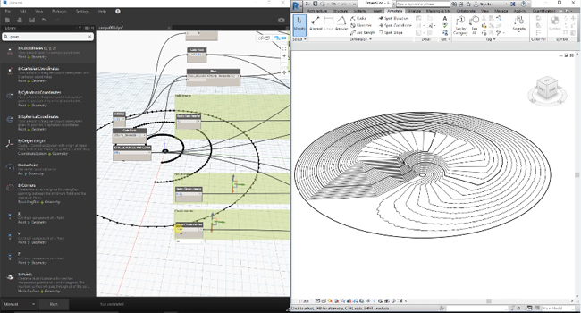How to use Dynamo Revit to create a helix ramp with topography