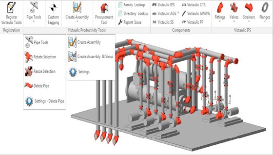 Victaulic tools for Revit