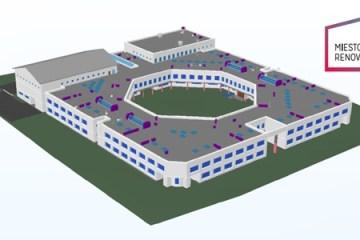 Ateities mokyklos renovacija. BIM projektas. Miesto renovacija, UAB, school renovation, bim project