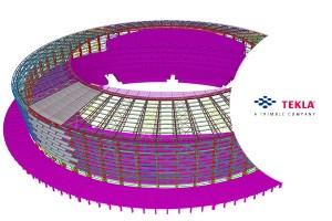 Baku-stadionas_Tekla-model_BIM_www.statybosobjektai.lt bimsolutions.lv