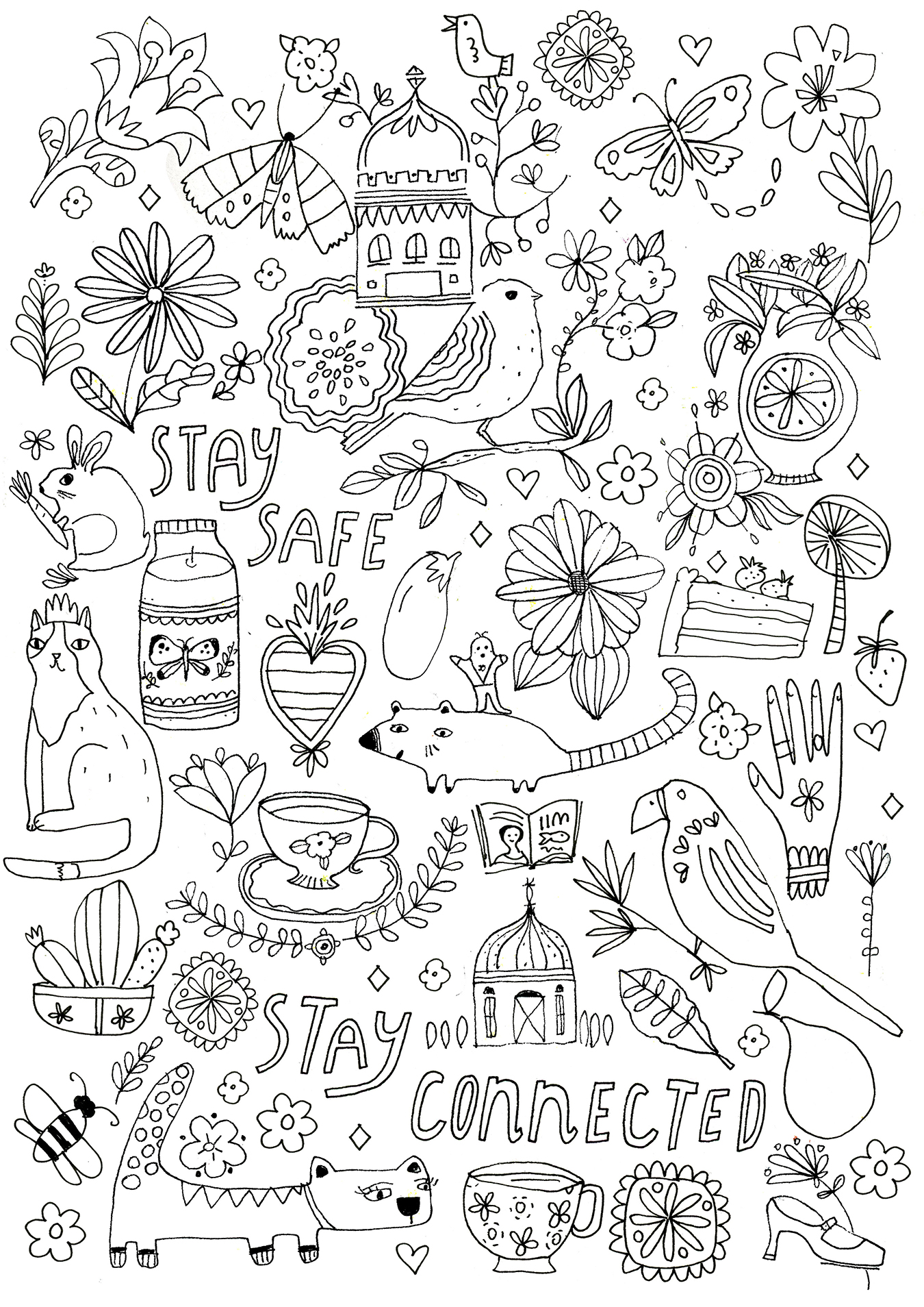Comforting Coloring Pages