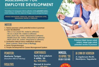 Workshop HRD Series: Assessment for Employee Development – Yogyakarta, 190420