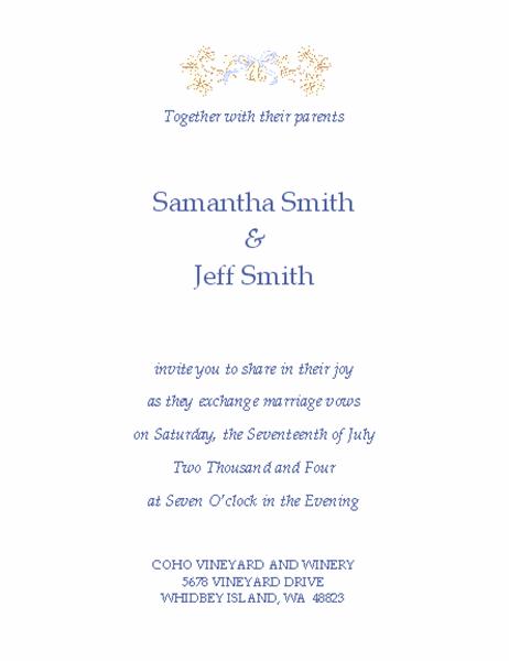 wedding invitation traditional