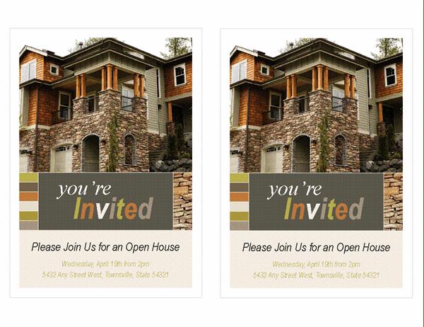 real estate open house invitation 2