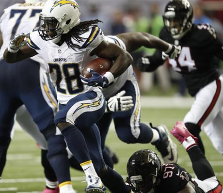 Chargers Falcons Football