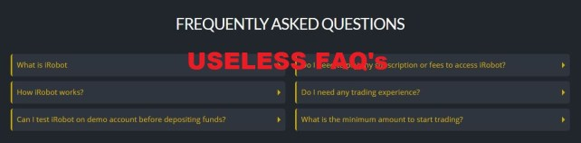 fabricated FAQs