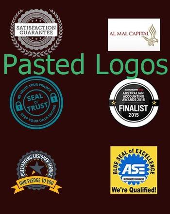 pasted logos