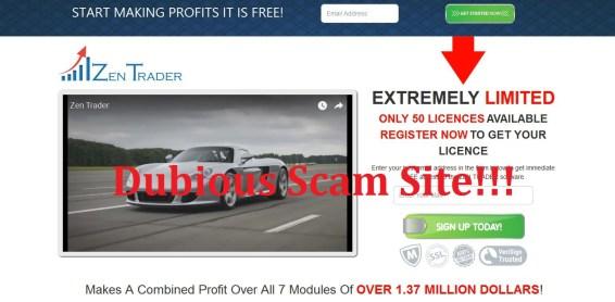 zen trader scam tactics