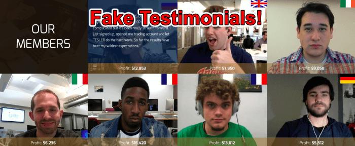 fake testimonials