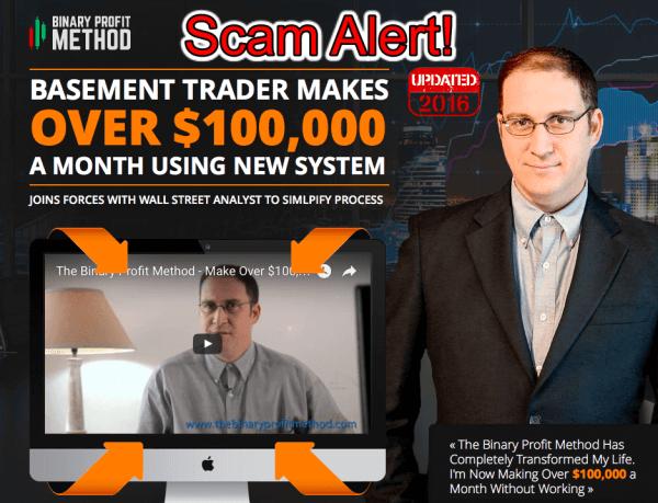 binary profit method scam
