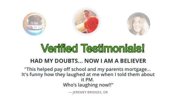 verified testimonials