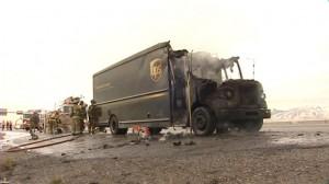 UPS Truck Fire