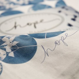 Cotton Tea towel hope signature