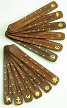 Incensario plano madera