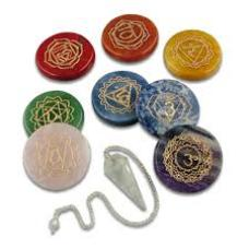 Set chakras simbolos y pendulo