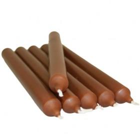 Vela color marrón