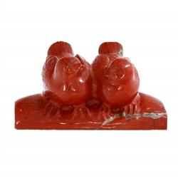 "alt= "" patos mandarines jaspe rojo"""
