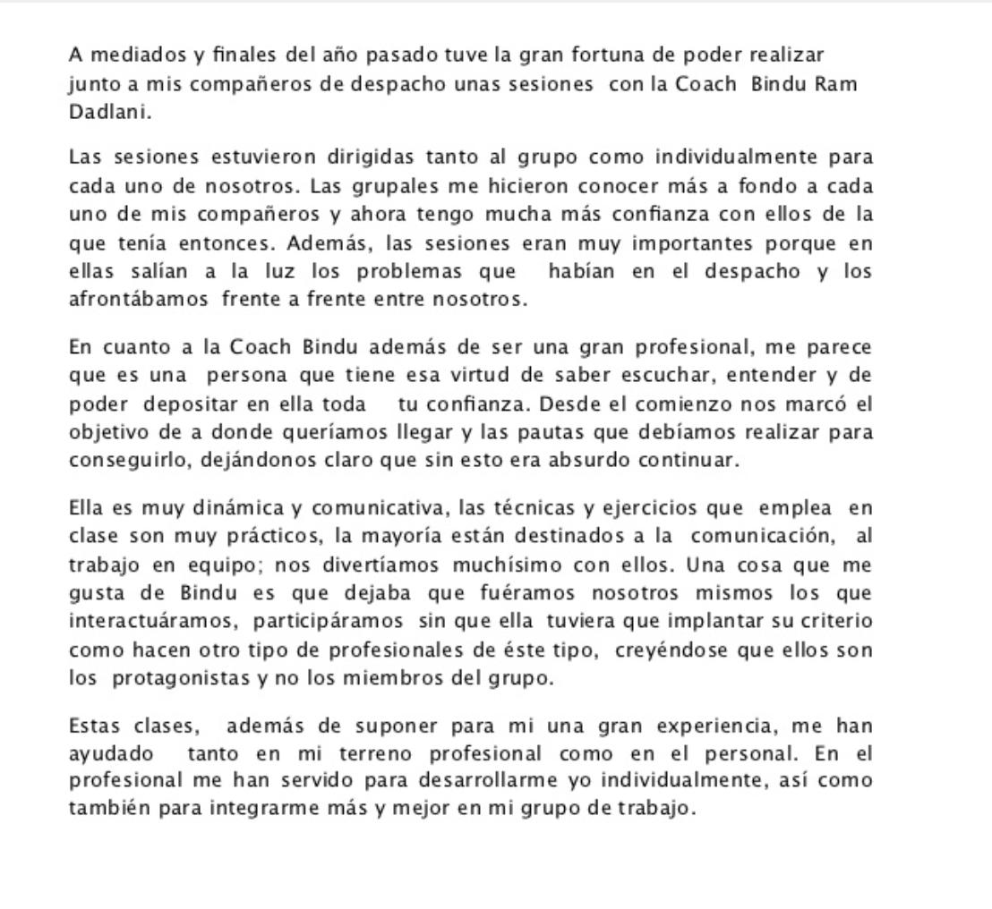 Carta de Recomendacion de Eduardo Morales Bindu Power Coaching