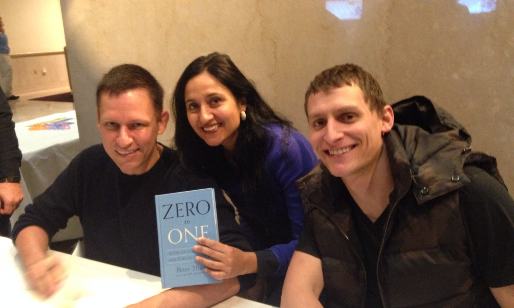 Peter Thiel Co-Founder of Paypal with Bindu Dadlani