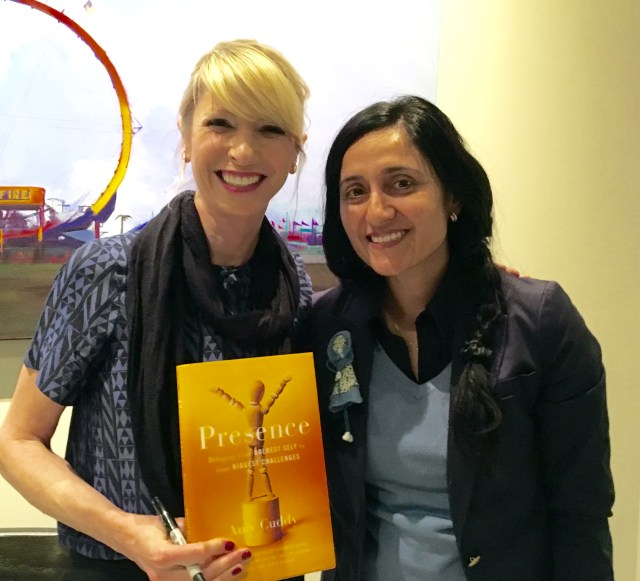 Amy Cuddy hosts a workshop at the West Suburban YMCA, Newton Free Library in Boston, involving her passion and research on human presence