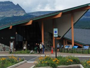 St. Mary Visitor Center marks the east entrance of Going-to-the-Sun Road.