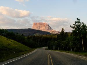 Chief Mountain Highway arcs around Chief Mountain.